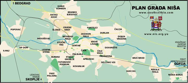 Mapa Grada Nisa